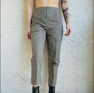 Pants - vintage gingham trousers